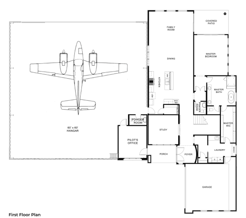 Hangar Homes Condor-Floorplan