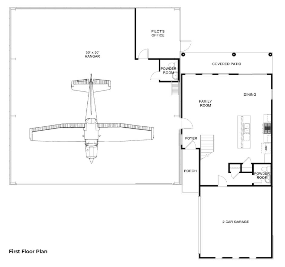 Hangar Homes Harrier-Floorplan