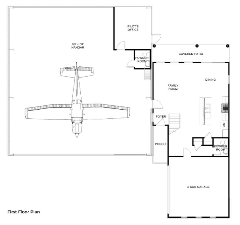 Hangar Homes Harrier-Floorplan