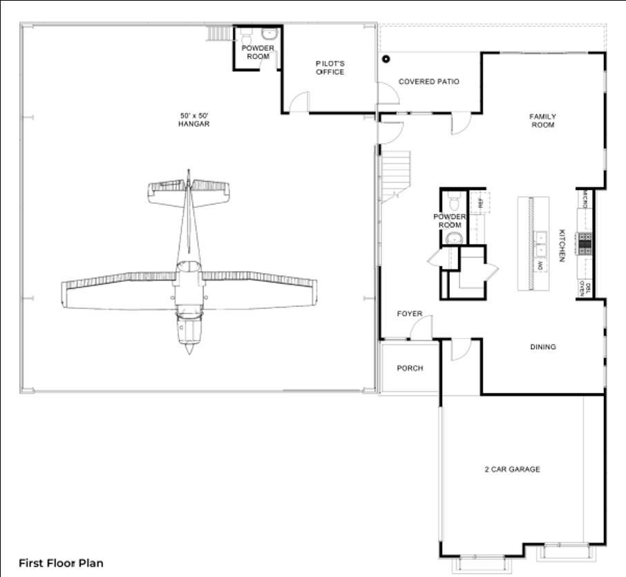 Hangar Homes Peregrine-Floorplan