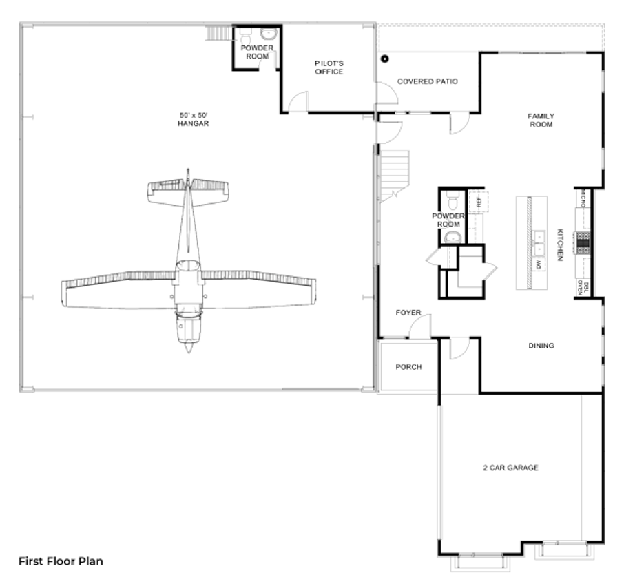 Hangar Homes Peregrine-Floorplan
